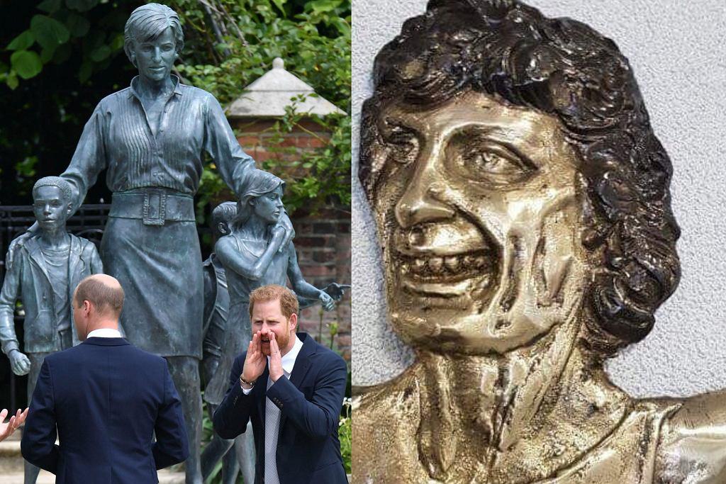 księżna Diana, Irena Szewińska, pomnik