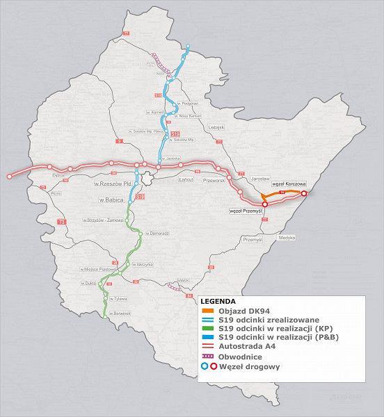Autostrada A4 w województwie podkarpackim