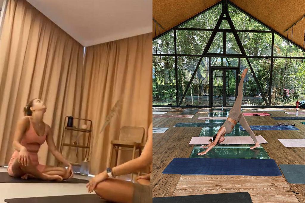 Julia Wieniawa ćwiczy jogę na odstresowanie