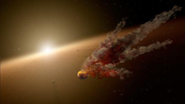 Wizja artystyczna gigantycznego zderzenia protoplanety