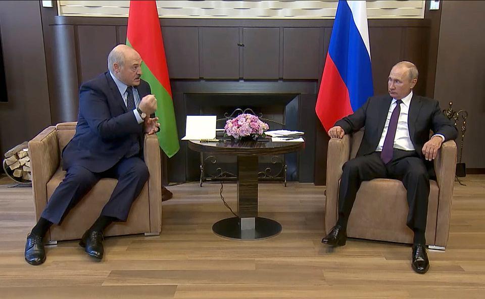 14.07.2020, spotkanie Władymira Putina i Aleksandra Łukaszenki w Soczi.