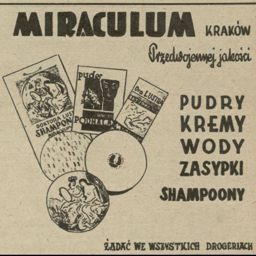 reklama kosmetyków Miraculum w gazecie 'Przekrój'