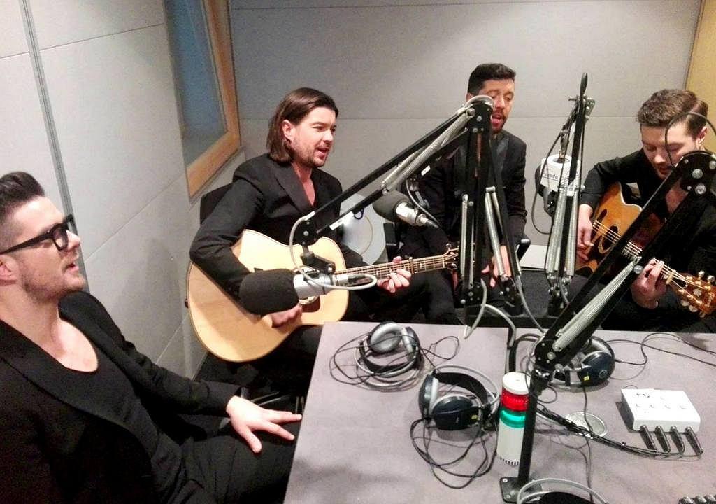 Zespół Pectus w studiu Radia Złote Przeboje