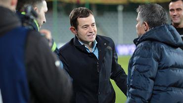 Gino Lettieri i Kibu Vicuna podczas meczu Korona Kielce - Wisła Płock