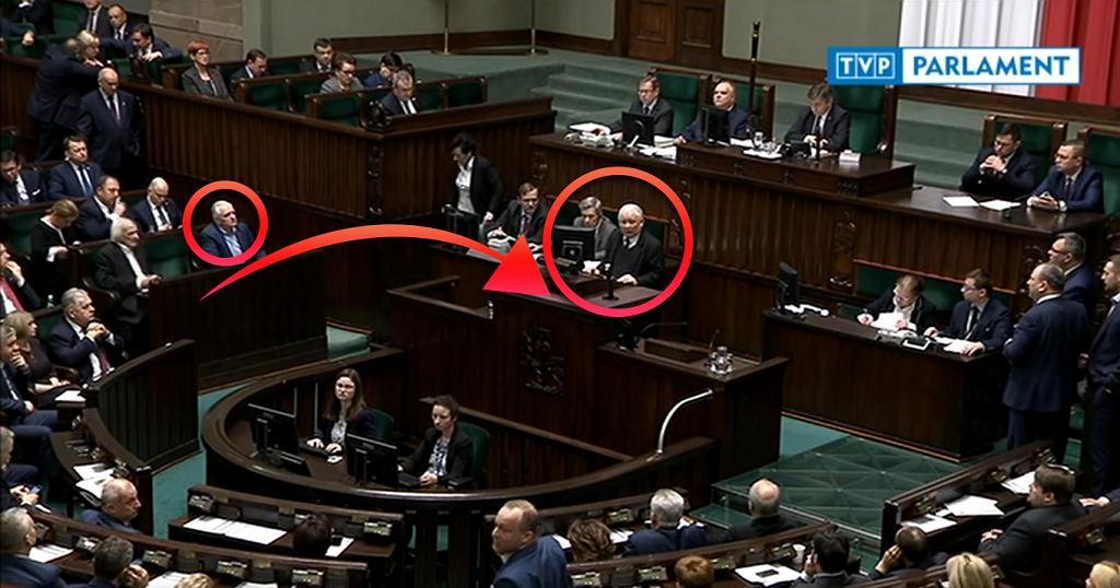 Jarosław Kaczyński zgłasza wniosek o przerwanie prac nad ustawę tuż przed głosowaniem nad jej całością