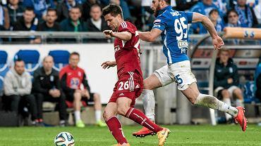 Lech Poznań - Wisła Kraków 0:0. Zaur Sadajew i Richard Guzmics