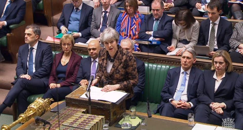 21.01.2019, Londyn, premier Wielkiej Brytanii Theresa May podczas wystąpienia przed Izbą Gmin.