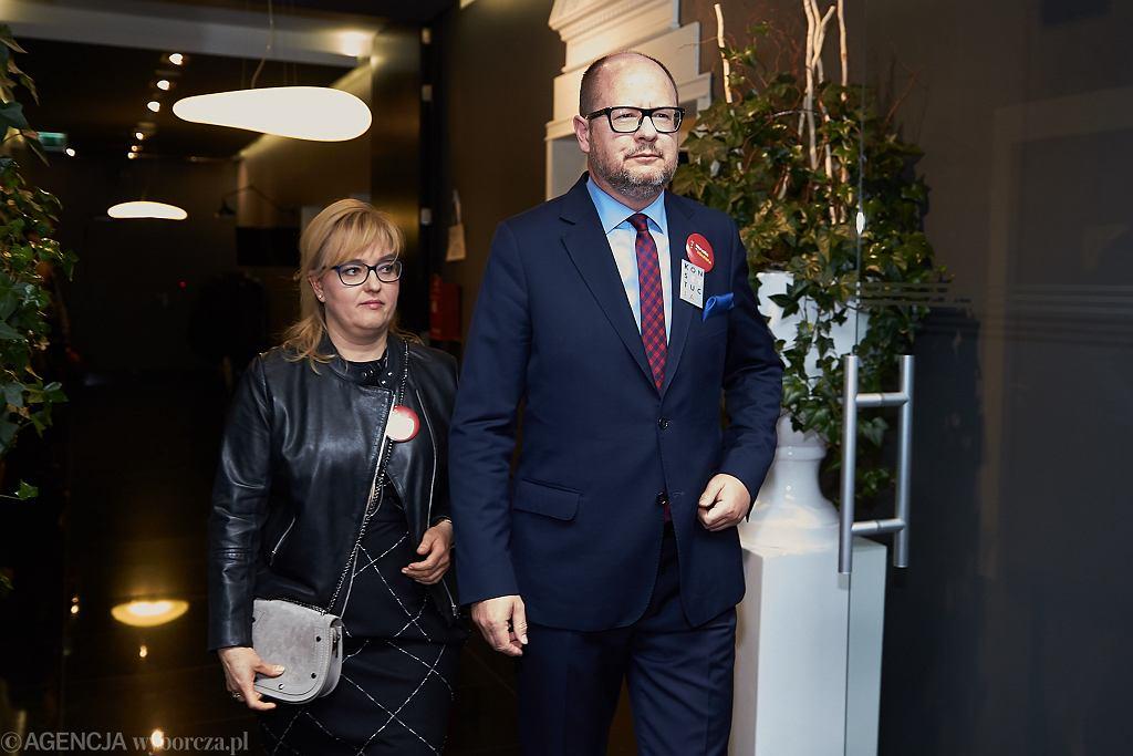 Paweł Adamowicz i Magdalena Adamowicz
