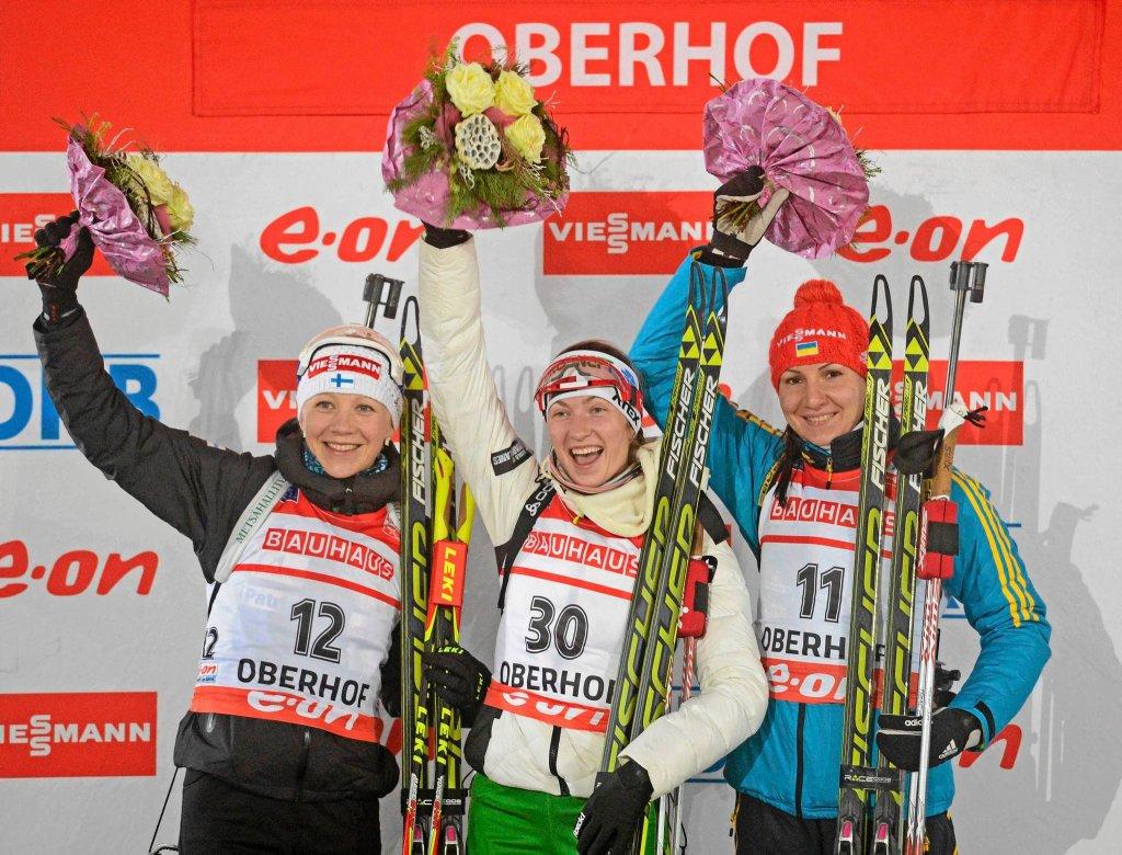 Kaisa Makarainen, Daria Domraczewa i Olena Pidruszna