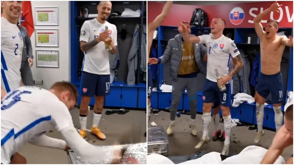 Radość Słowaków po awansie na Euro