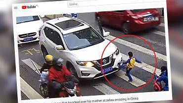 Chiny. Samochód potrącił kobietę z dzieckiem. Chłopiec dał upust swojej złości (zdjęcie ilustracyjne)