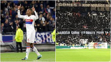 Ultrasi Lyonu wywiesili obraźliwy transparent. 'Marcelo, zachowaj palce dla swojej kobiety'