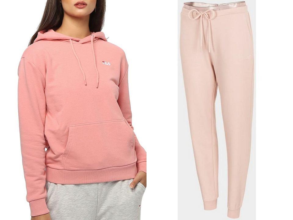 Pastelowe dresy różowy