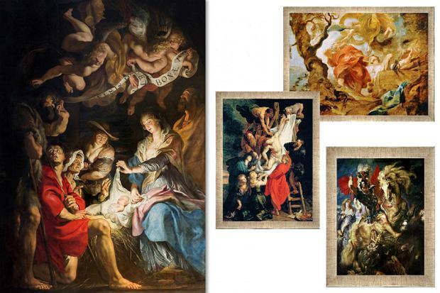 Kolaż / Najbardziej znane dzieła Rubensa / Materiały partnerów