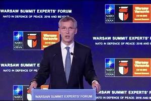 """Szczyt NATO. Pytanie o Brexit. Stoltenberg: """"Brexit nie zmienia sytuacji WB w NATO"""" Duda: """"Jest kryzys"""""""