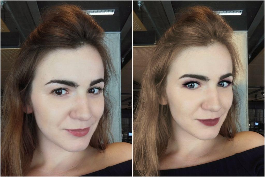 Metamorfoza przy użyciu aplikacji YouCam Makeup