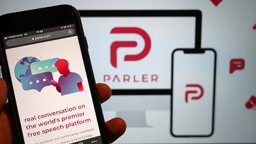 Parler obecnie nie działa po wypowiedzeniu przez Amazon umowy na udostępnienie serwerów