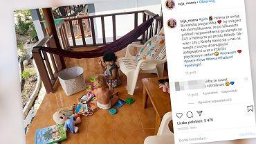 Córka Olgi Frycz bawi się z nową koleżanką z Birmy