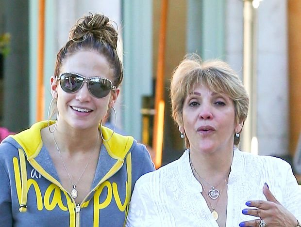 "Calabasas, CA - Jennifer Lopez spends her Valentine's Day with her mom, Guadalupe in Calabasas.  The mother-daughter pair grabbed some lunch and then walked around, enjoying their time out together.  Casper Smart was no where to be seen, however, at one point the singer-actress carried around some balloons that say, ""I Love You"", which are most likely meant for her beau.  Jennifer looked happy during her outing today and it was written all over her, wearing a zip up sweater with ""happy"" written across it along with matching yellow sweatpants.     AKM-GSI          February  14, 2014    To License These Photos, Please Contact :    Steve Ginsburg  (310) 505-8447  (323) 423-9397  steve@akmgsi.com  sales@akmgsi.com    or    Maria Buda  (917) 242-1505  mbuda@akmgsi.com  ginsburgspalyinc@gmail.com *** Local Caption ***  Jennifer Lopez"
