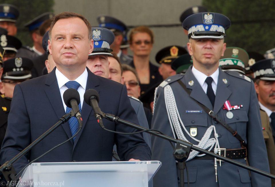 23.07.2017, Legionowo, Andrzej Duda podczas Centralnych Obchodów Święta Policji