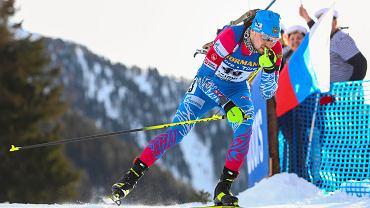Aleksandr Łoginow na trasie MŚ w biatlonie