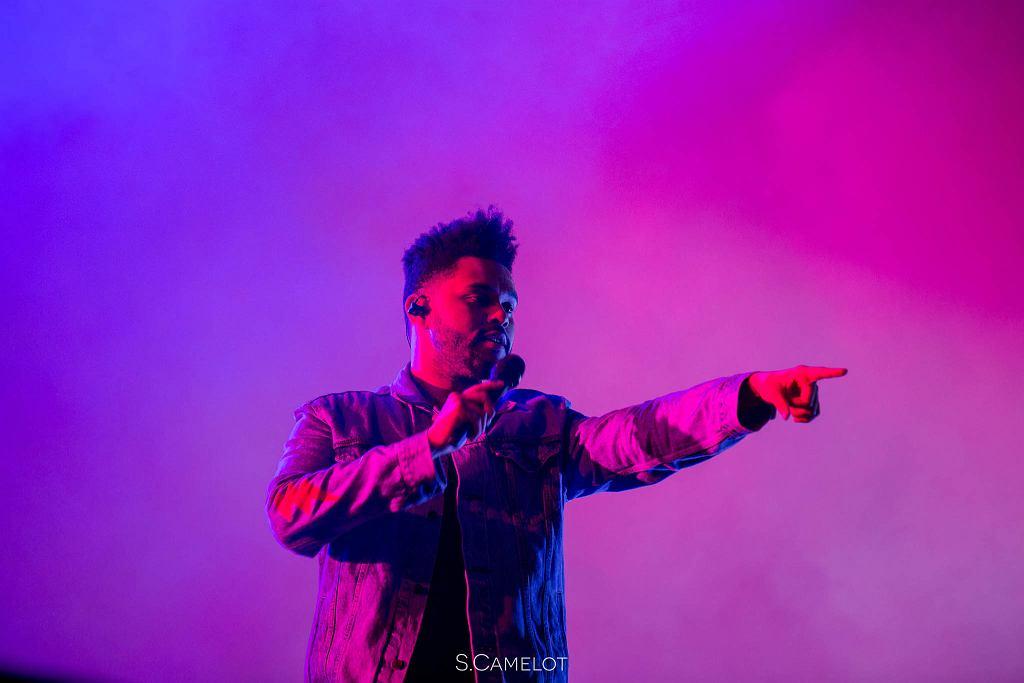 The Weeknd podczas koncertu.