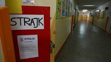 Strajk nauczycieli w Łodzi w 2008 r.
