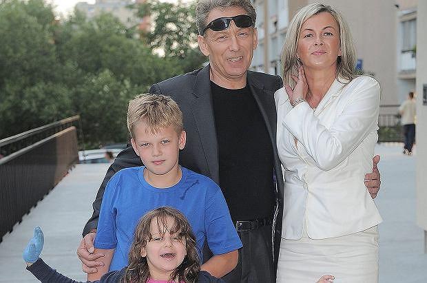 Borkowski z rodziną
