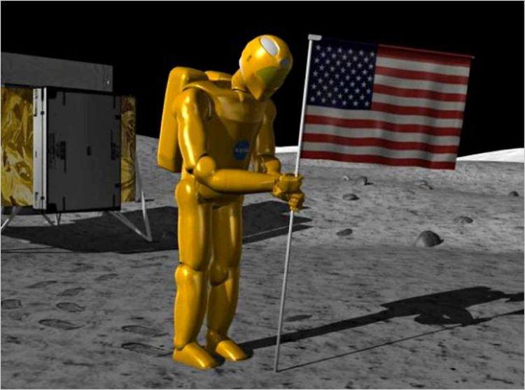 Robonauta R2 ma zatknąć na Księżycu amerykańską flagę
