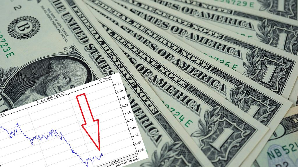 Dolar zaliczył mocny spadek