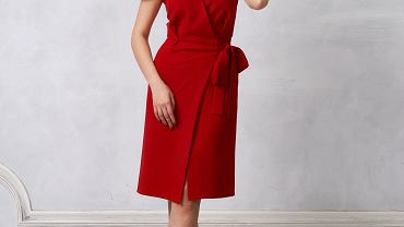 Sukienka kopertowa w eleganckiej wersji, będzie odpowiednim wyborem do pracy. Zdjęcie ilustracyjne, Dmitry_Tsvetkov