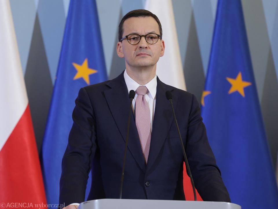 Konferencja premiera ws. epidemi koronawirusa w Polsce