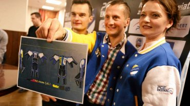 Konferencja KS Toruń dotycząca nowych kevlarów oraz meczu charytatywnego Darcy'ego Warda