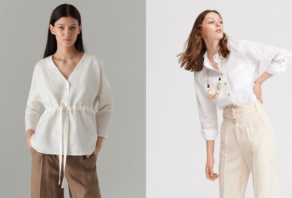 Koszula lniana biała jest ponadczasowym elementem garderoby