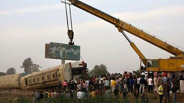Egipt. Katastrofa kolejowa.