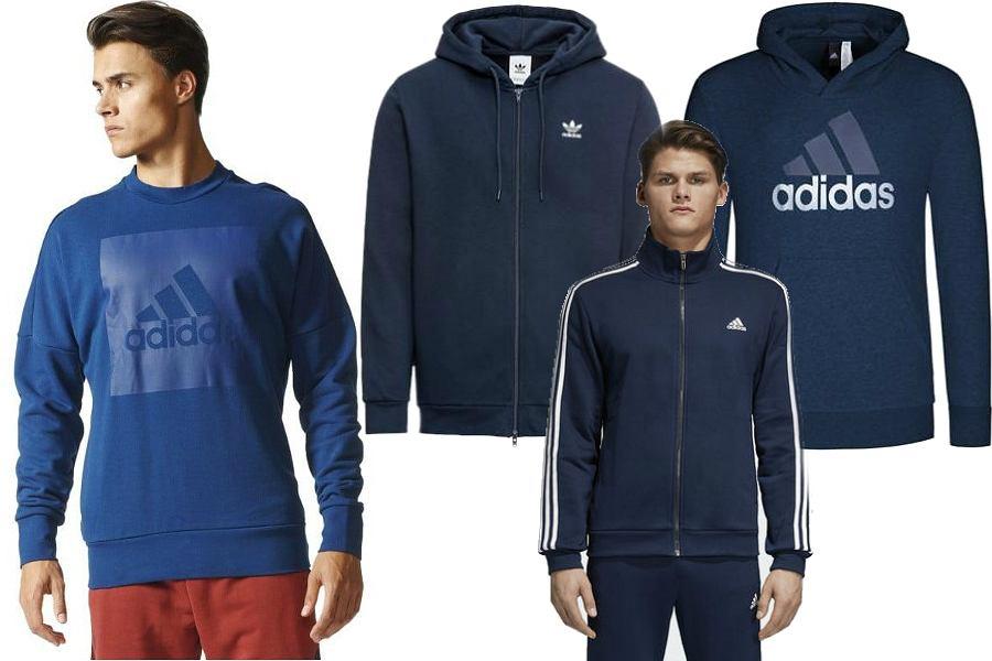 Niebieskie bluzy Adidas