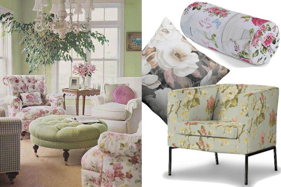 Dodatki i tekstylia w kwiaty