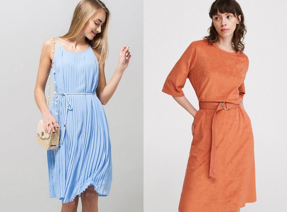 Sukienki z paskiem w najmodniejszych kolorach