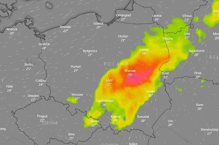 Gdzie jest burza? IMGW ostrzega przed deszczem i gradem w ośmiu województwach