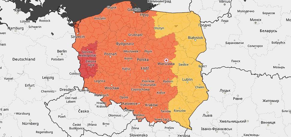 IMGW wydało ostrzeżenie przed upałami dla całej Polski. W jednym województwie obowiązuje czerwony alert