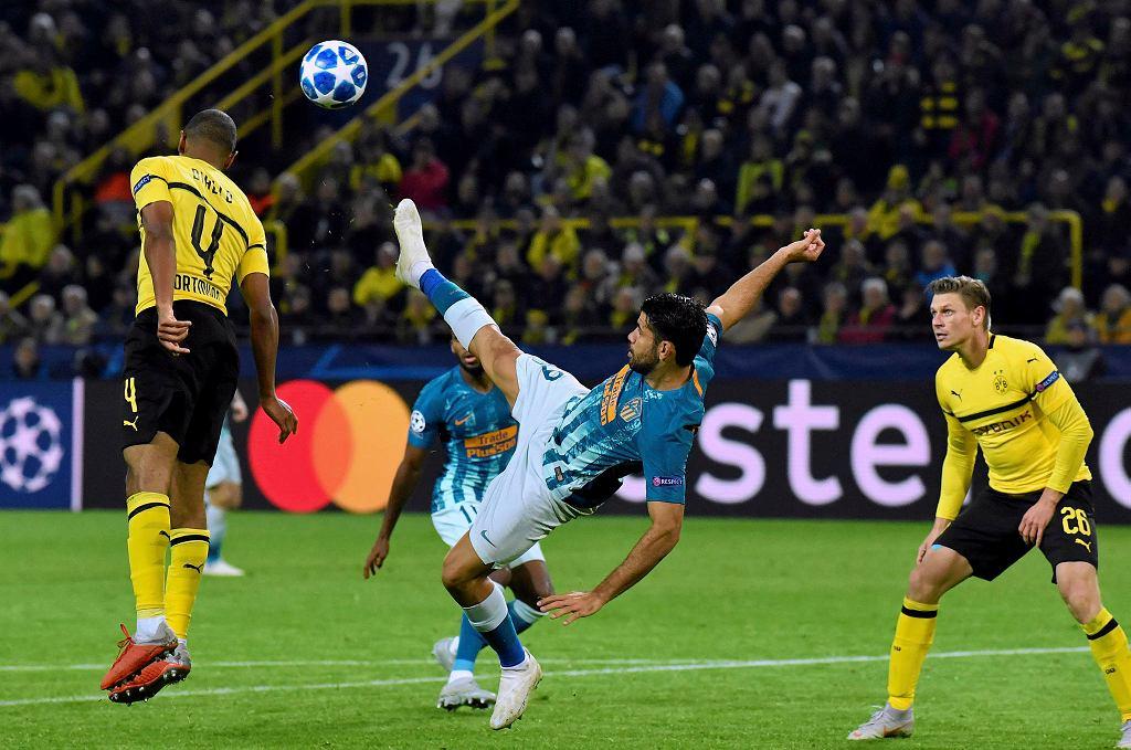Borussia Dortmund - Atletico Madryt. Abdou Diallo i Diego Costa