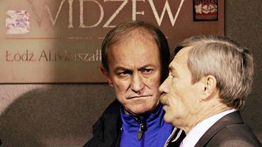 Franciszek Smuda (z lewej) i kierownik Tadeusz Gapiński w 2008 roku