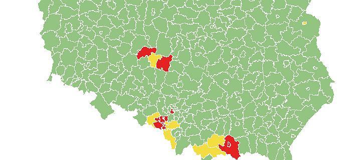 """Nowa lista """"żółtych"""" i """"czerwonych"""" powiatów. Gdzie zaostrzono przepisy?"""