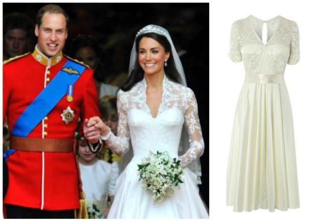 Suknia Peacocks w stylu Kate Middleton