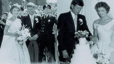 """Magazyn """"LIFE"""" dotarł do unikatowej kolekcji zdjęć ze ślubu prezydenta USA Johna F. Kennedy'ego i jego żony Jacqueline. Nigdy wcześniej nie były one pokazywane publicznie. To jedyna okazja, by je zobaczyć. Zdjęcia publikujemy dzięki uprzejmości RR Auction."""