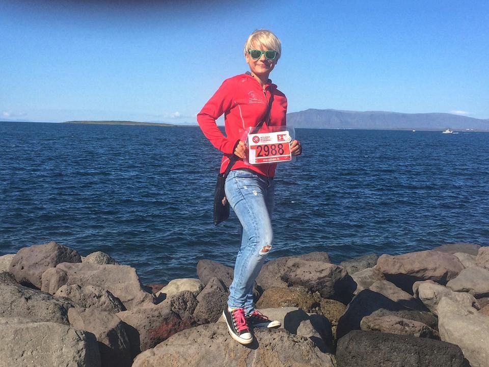 Anna Szczypczyńska, autorka bloga Panna Anna Biega, w Islandii