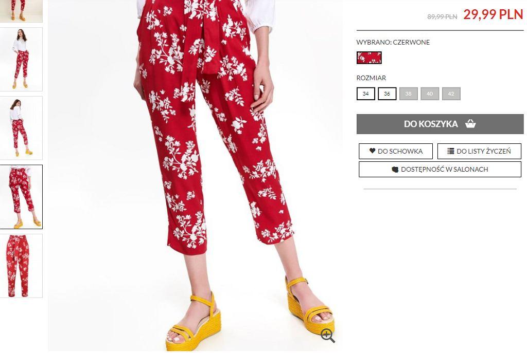 spodnie w kwiaty