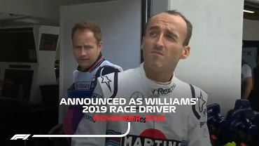 Robert Kubica wraca do F1