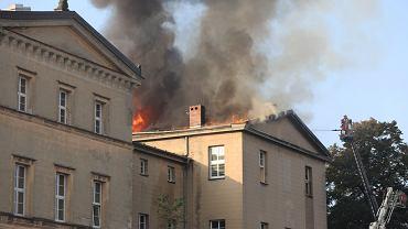 Pożar zabudowań klasztornych w Lublińcu