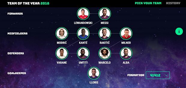 Przykładowa drużyna roku UEFA